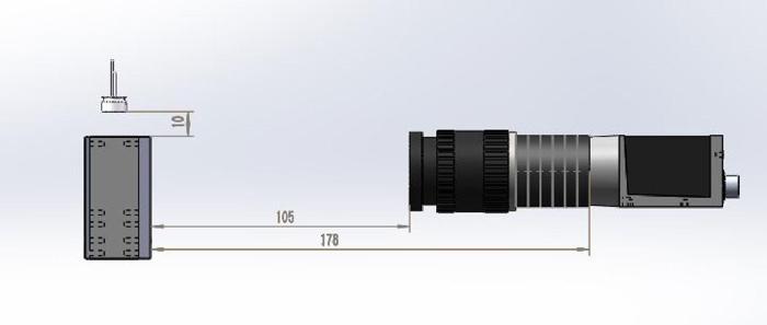 产品安装结构示意图中的底部相机